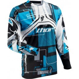 MAILLOT THOR FLUX CIRCUIT CYAN