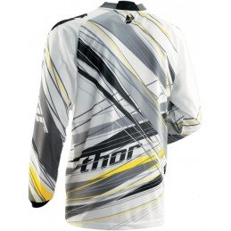 MAILLOT THOR PHASE VENT GRIS/JAUNE