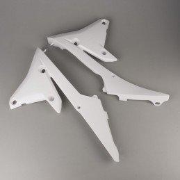 Ouïes de radiateur inférieures RACETECH blanc Yamaha YZ250/450F